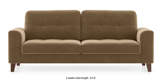 Verona Sofa (Fawn Velvet) (3-seater Custom Set - Sofas, None Standard Set - Sofas, Fabric Sofa Material, Regular Sofa Size, Regular Sofa Type, Fawn Velvet)
