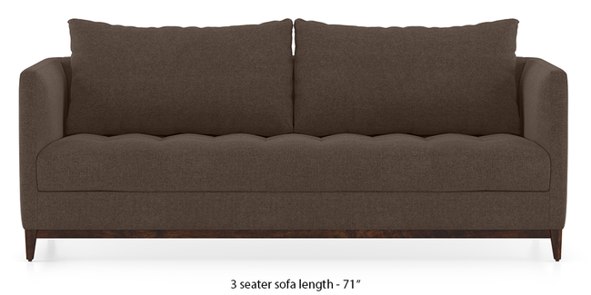 Florence Compact Sofa (Daschund Brown) (1-seater Custom Set - Sofas, None Standard Set - Sofas, Fabric Sofa Material, Regular Sofa Size, Regular Sofa Type, Daschund Brown)