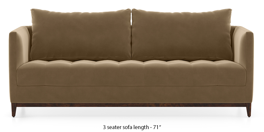 Florence Compact Sofa (Fawn Velvet) by Urban Ladder