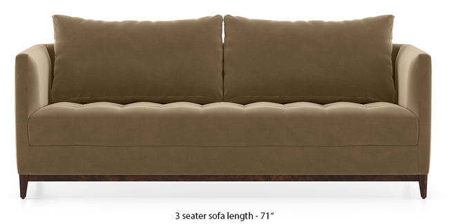 Florence Compact Sofa (Fawn Velvet) (1-seater Custom Set - Sofas, None Standard Set - Sofas, Fabric Sofa Material, Regular Sofa Size, Regular Sofa Type, Fawn Velvet)