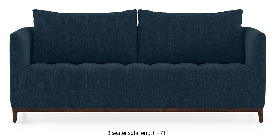 Florence Compact Sofa (Indigo Blue) by Urban Ladder