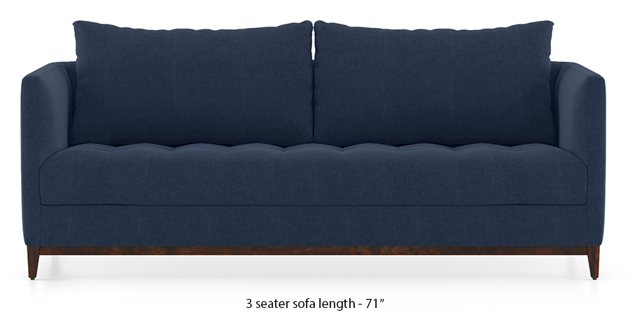 Florence Compact Sofa (Lapis Blue) by Urban Ladder