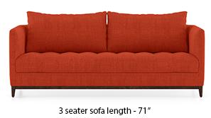 Florence Compact Sofa (Lava Rust)
