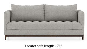 Florence Compact Sofa (Vapour Grey)