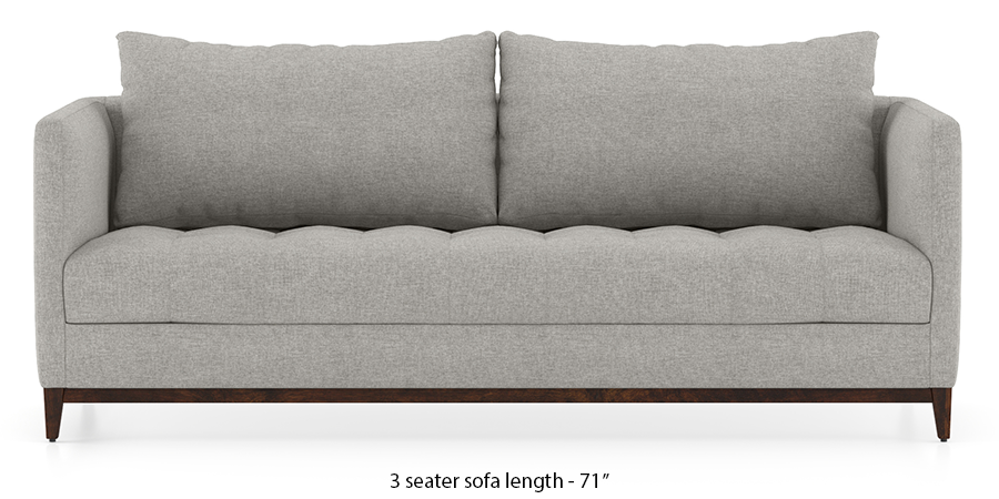 Florence Compact Sofa (Vapour Grey) by Urban Ladder