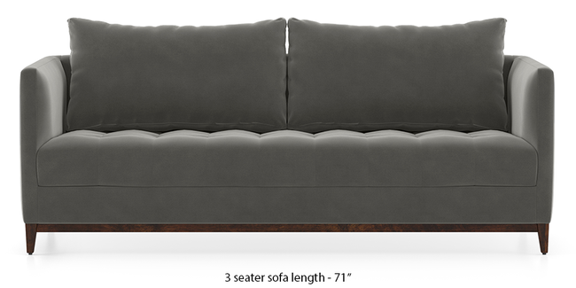 Florence Compact Sofa (Ash Grey Velvet) (1-seater Custom Set - Sofas, None Standard Set - Sofas, Fabric Sofa Material, Regular Sofa Size, Regular Sofa Type, Ash Grey Velvet)