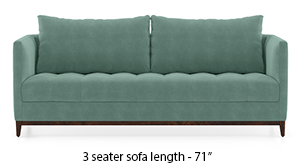 Florence Compact Sofa (Dusty Turquoise Velvet)