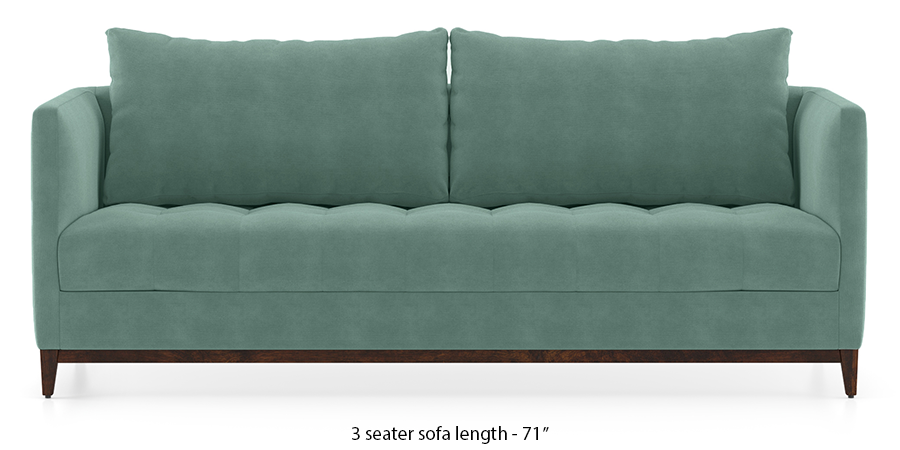 Florence Compact Sofa (Dusty Turquoise Velvet) by Urban Ladder