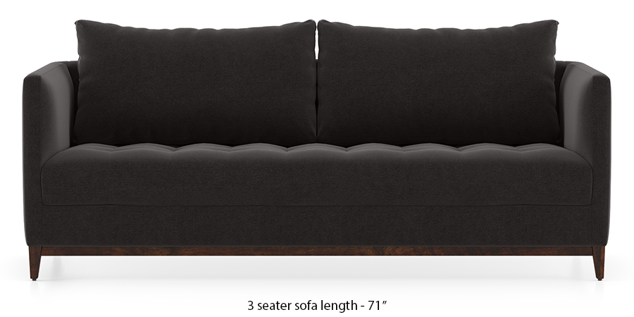 Florence Compact Sofa (Pebble Grey) by Urban Ladder