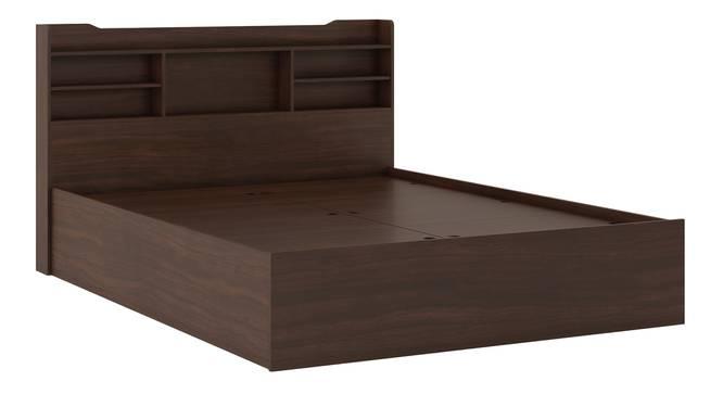 Sandon Storage Bed (Queen Bed Size, Box Storage Type, Smoked Walnut Finish) by Urban Ladder - Front View Design 2 - 298966