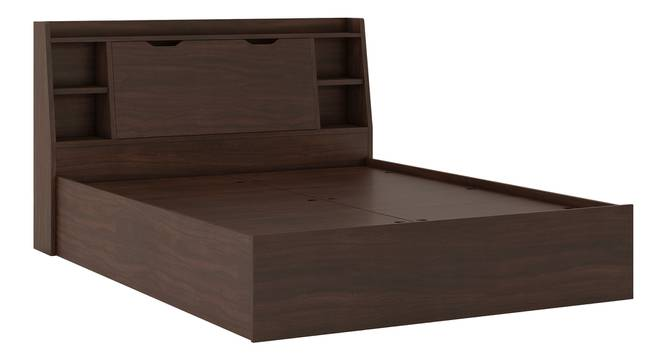 Scott Storage Bed (Queen Bed Size, Box Storage Type, Smoked Walnut Finish) by Urban Ladder - Front View Design 2 - 298980