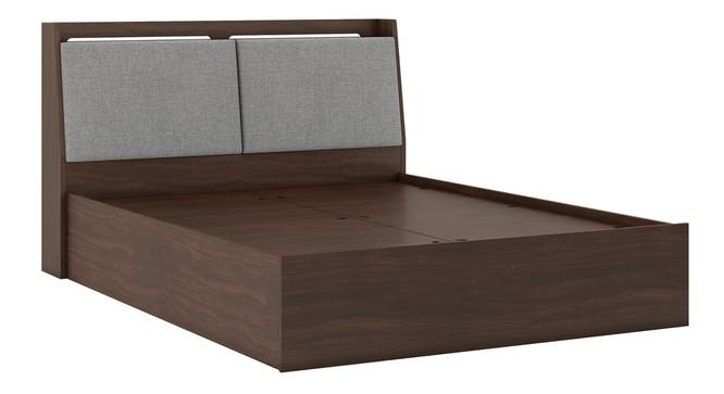 Tyra Storage Bed (King Bed Size, Box Storage Type, Smoked Walnut Finish) by Urban Ladder - Front View Design 2 - 299041