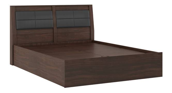 Pico Bed (Queen Bed Size, Smoked Walnut Finish) by Urban Ladder - Front View Design 1 -