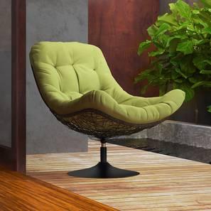 Calabah Swivel Lounge Chair (Green) by Urban Ladder - Design 1 Full View - 299088