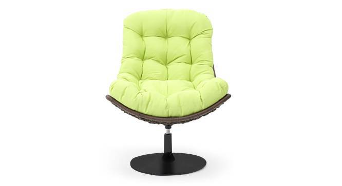 Calabah Swivel Lounge Chair (Green) by Urban Ladder - Front View Design 1 - 299089