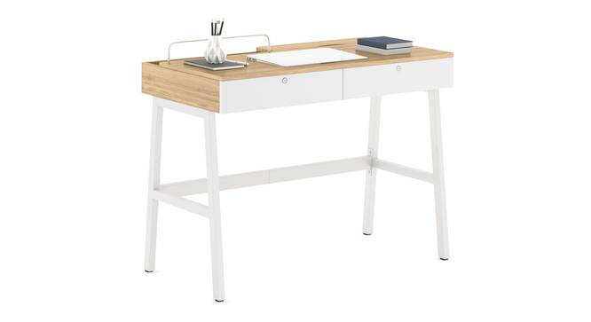 Terry Study Table (Rustic Oak Finish) by Urban Ladder - Design 1 Full View - 299117