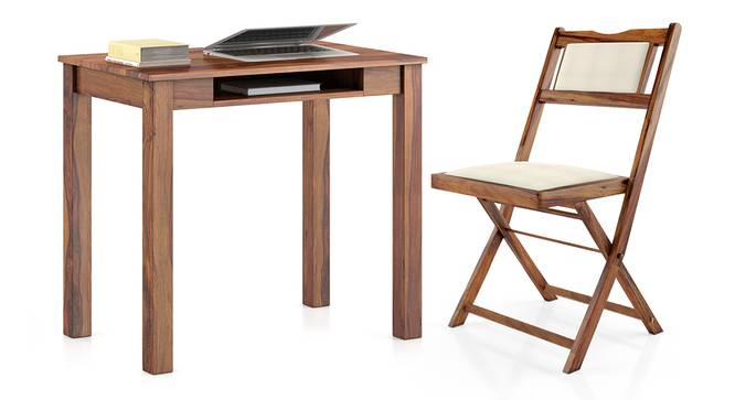 Arabia - Axis Study Set (Teak Finish) by Urban Ladder - Design 1 Full View - 299304