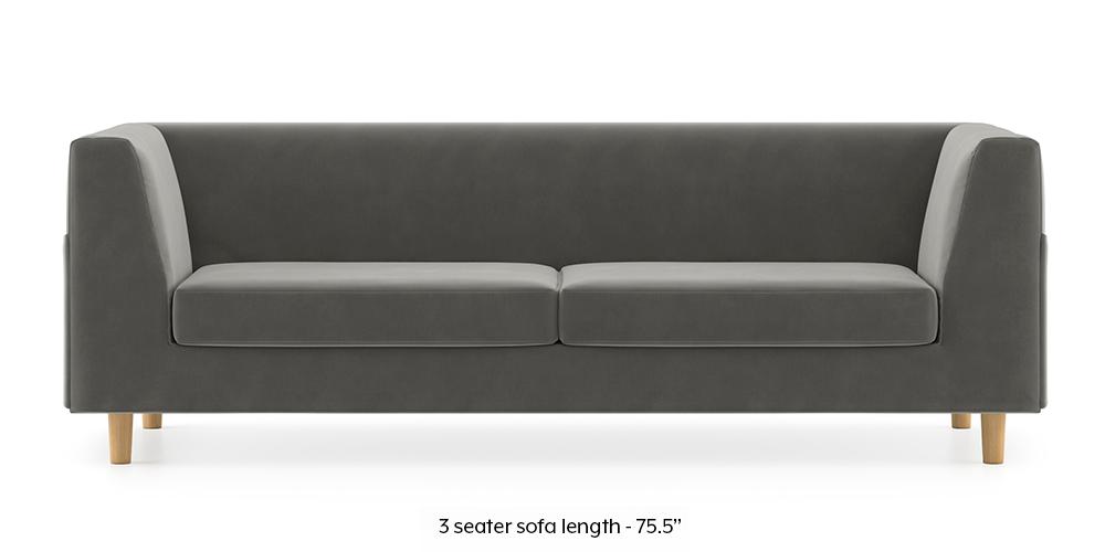Armeo Sofa (Ash Grey Velvet) by Urban Ladder - -