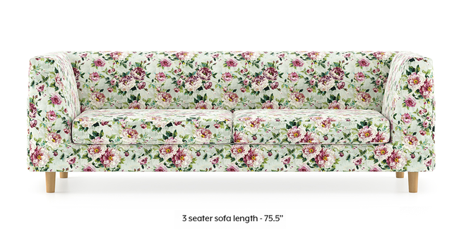 Rubik Sofa (Clara Velvet) (3-seater Custom Set - Sofas, None Standard Set - Sofas, Fabric Sofa Material, Regular Sofa Size, Regular Sofa Type, Clara Velvet)