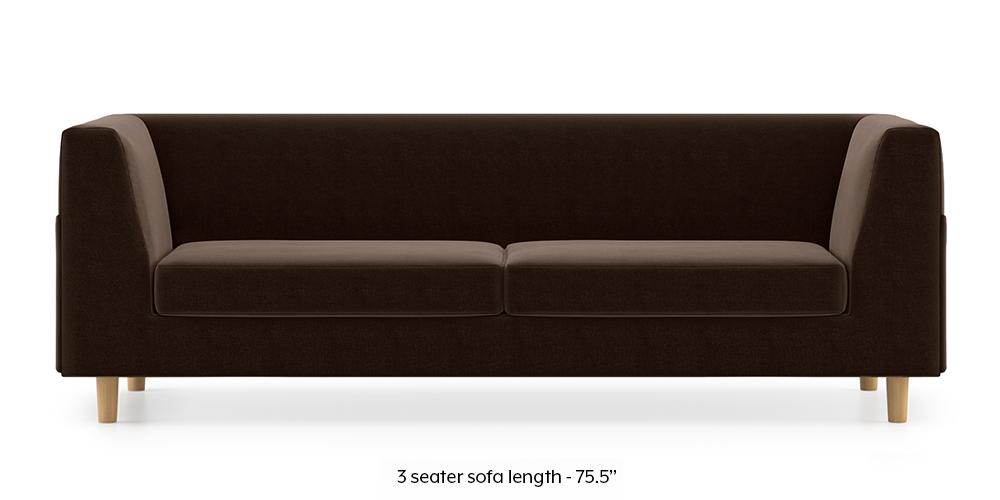 Armeo Sofa (Dark Earth) by Urban Ladder - -