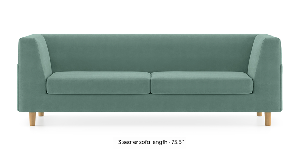 Armeo Sofa (Dusty Turquoise Velvet) by Urban Ladder - -