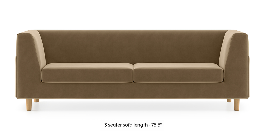 Armeo Sofa (Fawn Velvet) by Urban Ladder - -