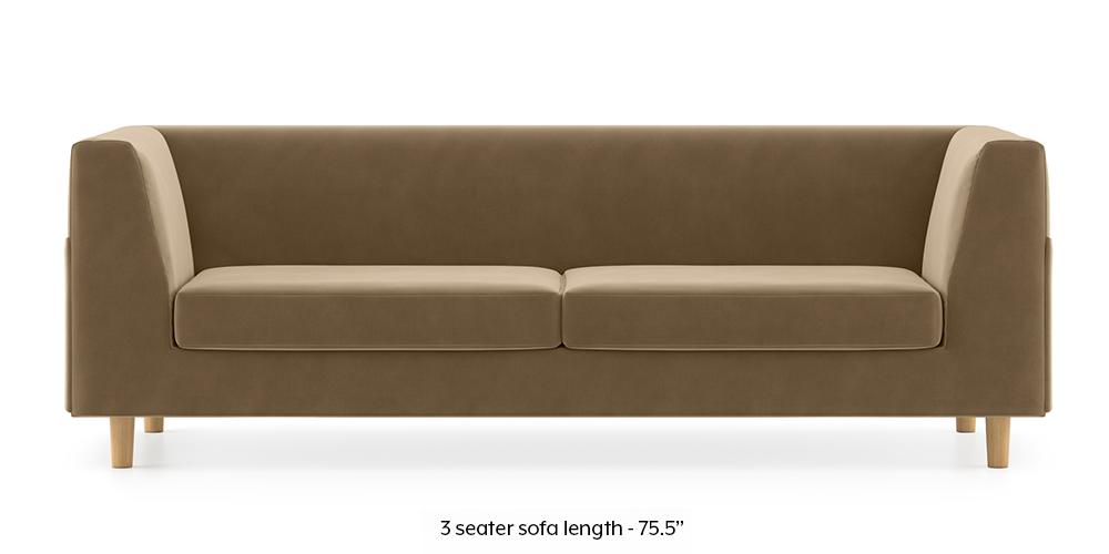 Armeo Sofa (Fawn Velvet) by Urban Ladder - -