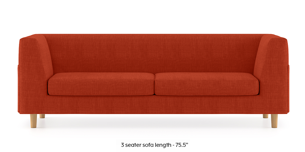 Armeo Sofa (Lava Rust) by Urban Ladder - -