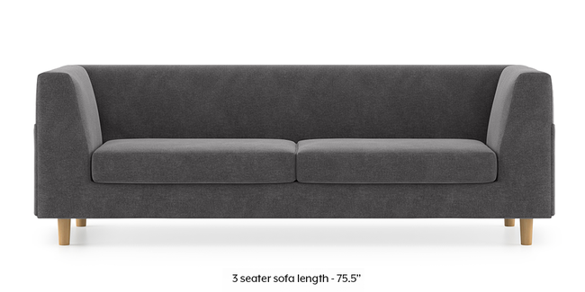 Rubik Sofa (Smoke Grey) (2-seater Custom Set - Sofas, None Standard Set - Sofas, Smoke, Fabric Sofa Material, Regular Sofa Size, Regular Sofa Type)