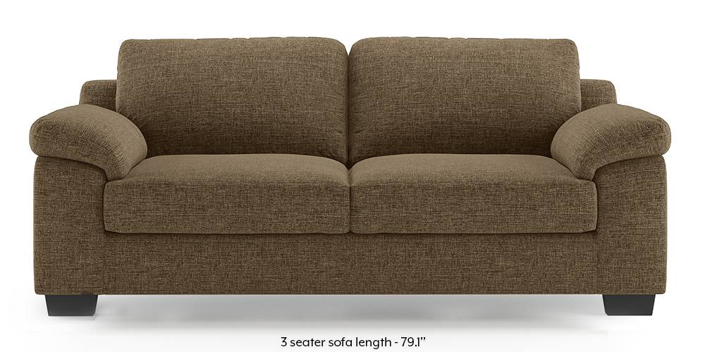 Esquel Sofa (Dune Brown) (1-seater Custom Set - Sofas, None Standard Set - Sofas, Dune, Fabric Sofa Material, Regular Sofa Size, Regular Sofa Type) by Urban Ladder - -