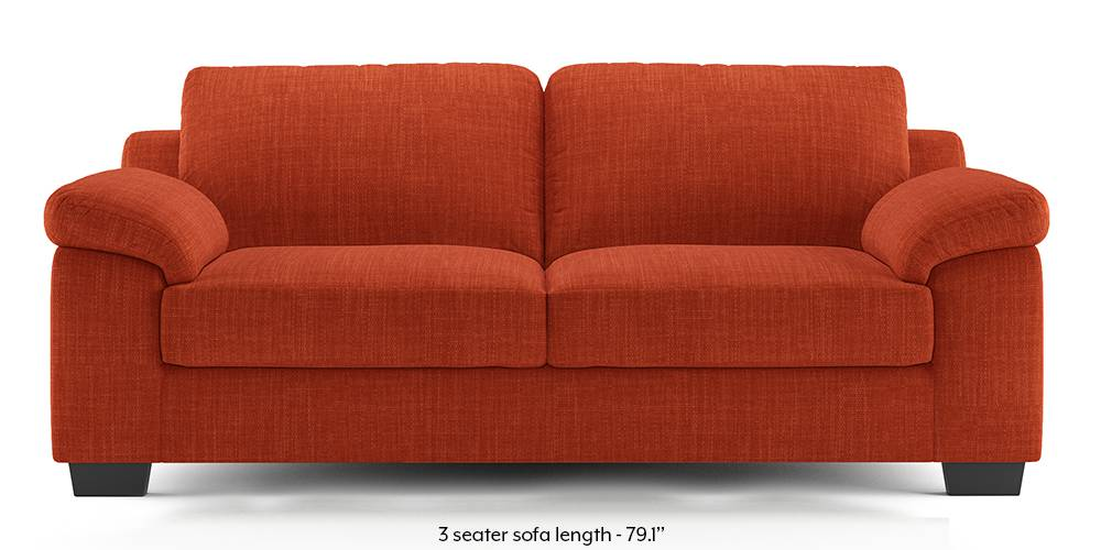 Esquel Sofa (Lava Rust) (1-seater Custom Set - Sofas, None Standard Set - Sofas, Lava, Fabric Sofa Material, Regular Sofa Size, Regular Sofa Type) by Urban Ladder - -