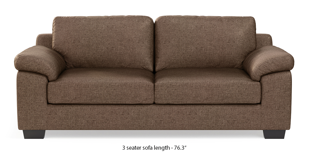 Esquel Sofa (Mocha Brown) (1-seater Custom Set - Sofas, None Standard Set - Sofas, Mocha, Fabric Sofa Material, Regular Sofa Size, Regular Sofa Type) by Urban Ladder - - 300005