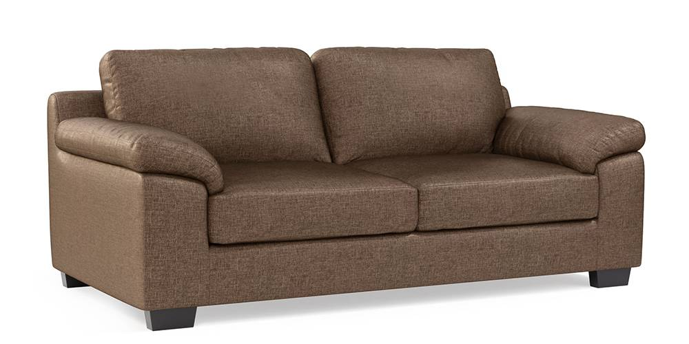 Esquel Sofa (Mocha Brown) (1-seater Custom Set - Sofas, None Standard Set - Sofas, Mocha, Fabric Sofa Material, Regular Sofa Size, Regular Sofa Type) by Urban Ladder - -