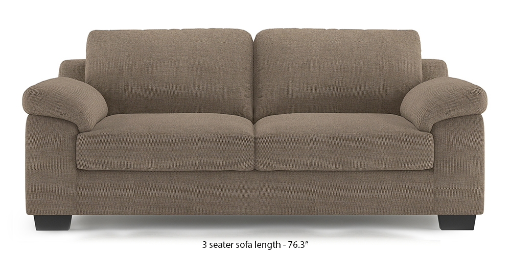 Esquel Sofa (Mist Brown) (1-seater Custom Set - Sofas, None Standard Set - Sofas, Fabric Sofa Material, Regular Sofa Size, Regular Sofa Type, Mist Brown) by Urban Ladder - - 300109