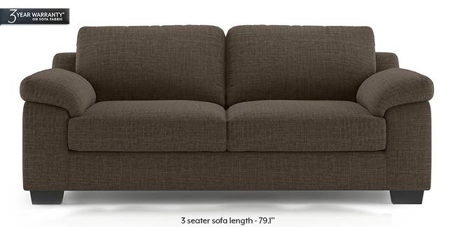 Esquel Sofa (Pine Brown) (1-seater Custom Set - Sofas, None Standard Set - Sofas, Fabric Sofa Material, Regular Sofa Size, Regular Sofa Type, Pine Brown)