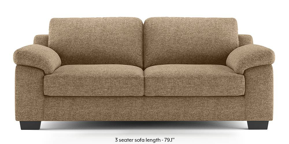 Esquel Sofa (Safari Brown) (1-seater Custom Set - Sofas, None Standard Set - Sofas, Fabric Sofa Material, Regular Sofa Size, Regular Sofa Type, Safari Brown) by Urban Ladder - -