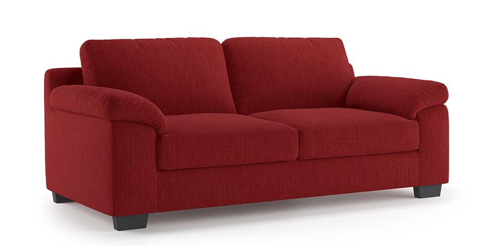 Esquel Sofa (Salsa Red) (1-seater Custom Set - Sofas, None Standard Set - Sofas, Fabric Sofa Material, Regular Sofa Size, Regular Sofa Type, Salsa Red) by Urban Ladder - -