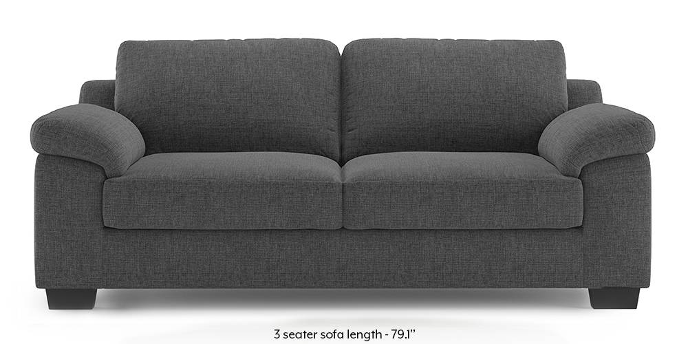 Esquel Sofa (Steel Grey) (1-seater Custom Set - Sofas, None Standard Set - Sofas, Steel, Fabric Sofa Material, Regular Sofa Size, Regular Sofa Type) by Urban Ladder - -