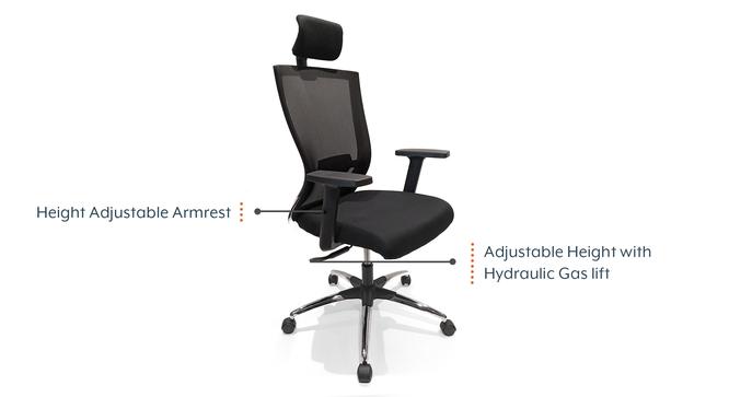 Werner High Back Study Chair (Black) by Urban Ladder - Cross View Design 1 - 300360