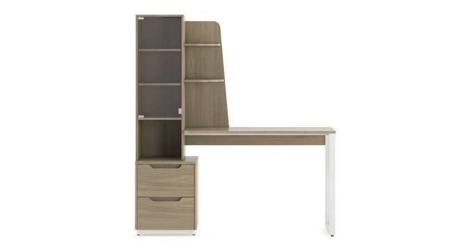 Sidney - Venturi Study Set (Ash Grey, Honey Walnut Finish) by Urban Ladder - Front View Design 1 - 300485