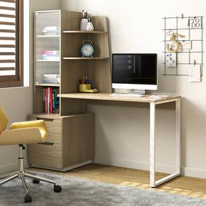 Sidney Study Table (Honey Walnut Finish) by Urban Ladder - Full View Design 1 - 301404