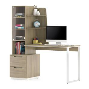 Sidney Study Table (Honey Walnut Finish) by Urban Ladder - Design 1 Full View - 300504