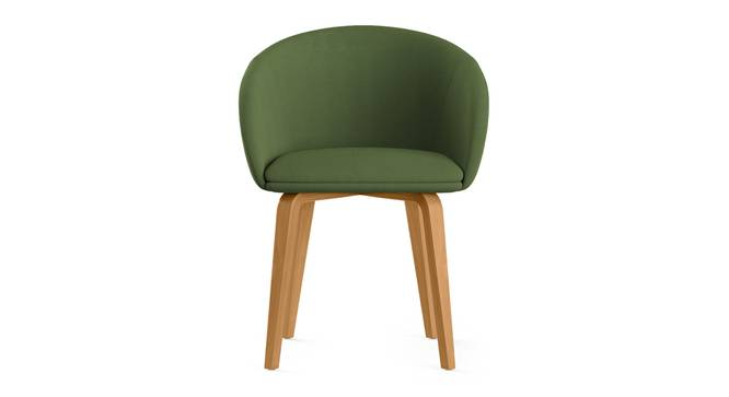 Meryl Lounge Chair (Olive) by Urban Ladder - Front View Design 1 - 300563