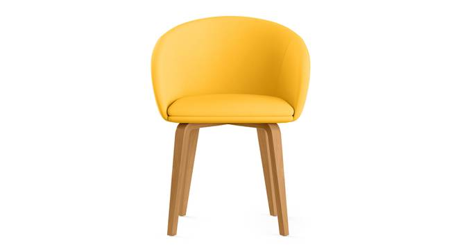 Meryl Lounge Chair (Yellow) by Urban Ladder - Front View Design 1 - 300569