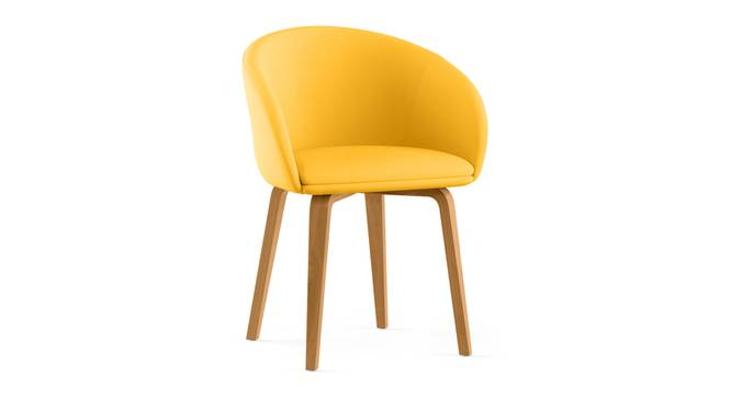 Meryl Lounge Chair (Yellow) by Urban Ladder - Cross View Design 1 - 300570