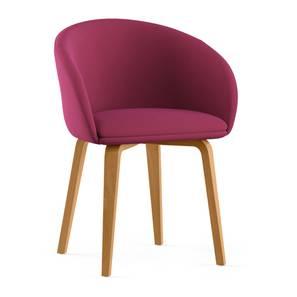 Meryl Lounge Chair (Raspberry) by Urban Ladder - Design 1 - 300574