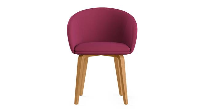 Meryl Lounge Chair (Raspberry) by Urban Ladder - Front View Design 1 - 300575