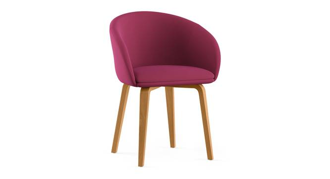 Meryl Lounge Chair (Raspberry) by Urban Ladder - Cross View Design 1 - 300576