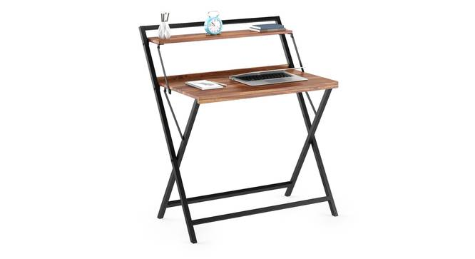 Bruno Folding Study Table (Teak Finish, Black) by Urban Ladder - Cross View Design 1 - 300582