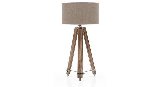 Kepler Tripod Floor Lamp (Natural Base Finish, Natural Shade Color, Drum Shade Shape) by Urban Ladder - Front View Design 1 - 300590